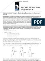 Rocket Propulsion - Supplement #1