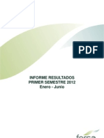 Fersa Informe resultados primer semestre 2012