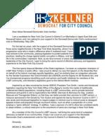 Micah z. Kellner Stonewall Letter