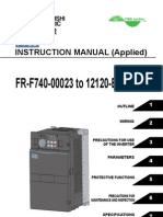 Mitsubishi F700 Series VFD Manual