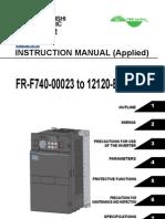 Mitsubishi F700 Series VFD Manual
