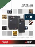 Mitsubishi F700 Series VFD Brochure