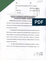 Ardolino - 414 - Response to Petition for Dist to Joe e