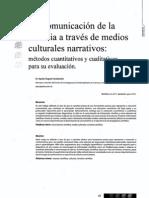 La Comunicacion de La Ciencia a Traves de Medios Culturales Narrativos