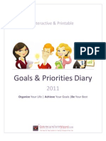 Goals And Priorities Diary Yearly