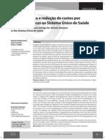SBAFS Atividade Fisica e Reducao de Custos Por Doencas Cronicas Ao SUS