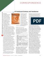 The Terminology of Teratocarcinomas and Teratomas