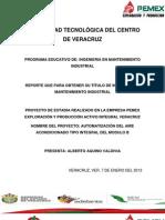 AUTOMATIZACIÓN DEL AIRE ACONDICIONADO TIPO INTEGRAL DEL MODULO B