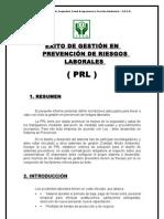 ÉXITO DE GESTIÓN EN PREVENCIÓN DE RIESGOS LABORALES