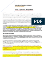 The Role of the Consulting Engineer in Design Build ( FIDIC )