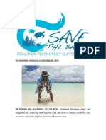 Popular Bahamian Artist Backs Save the Bays with New Song