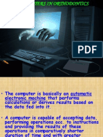 Computers in Ortho - DR G.S FINAL YEAR