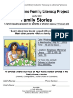 2013 SML Latino Family Literacy Session Flyer English Vers