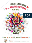 Programa II Encuentro Internacional de Periodismo Cultural