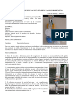 PUNTO DE CONGELACIÓN DE MEZCLAS DE NAFTALENO Y p-DICLOROBENCENO