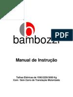 Bambozzi Talha Eletrica Manual de Instrucao 439850