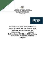 Proyecto de Parasitosis