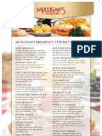 Mulligan's Breakfast Menu