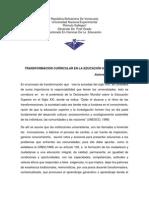 Vision Transformadora Del Curriculo Universitario
