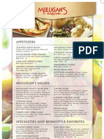 Mulligan's Lunch/Dinner Menu