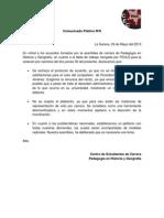 Comunicado Público Nº8 - 2013