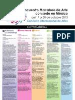 CONVOCATORIA CONCURSO INTERNACIONAL DE ARTES