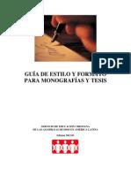 Guia de Estilo y Formato Para Monografias y Tesis