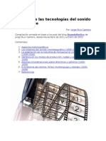 Historia de las tecnologías del sonido en el cine