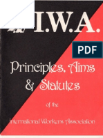 Principles, Aims & Statues of the I.W.A