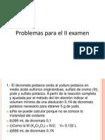 Problemas Para El II Examen