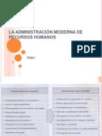LA ADMINISTRACIÓN MODERNA DE RECURSOS HUMANOS Tema I y II.pptx