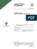 NTC 3629-2002. Determinación de DQO.pdf