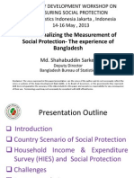 Day 3 Session 3 Country Experience on Monitoring Social Protection, Presentation of Bangladesh