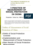Day 1 Session 3 Country Experience on Monitoring Social Protection, Presentation of PRC