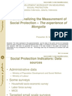 Day 1 Session 3 Country Experience on Monitoring Social Protection, Presentation of Mongolia
