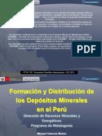 Formacion y Distribucion de Los Depositos Minerales en El Peru - InGEMMET
