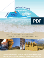 AAIR 2013 Call for Abstracts
