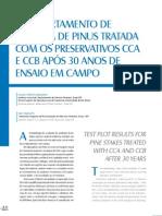 Comportamento de Madeira de Pinus Tratada Com CCA e CCB-O
