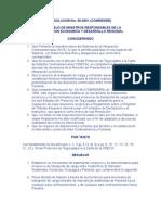 RESOLUCION No 65-2001 COMRIEDRE, inclusión de Panamá en DTI y Reglamento