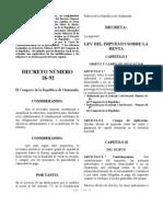 Dto. Nro. 26-92 Ley ISR c