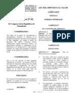 Dto. Nro. 27-92 Ley Del IVA c