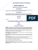 LEY DE ALCOHOLES, BEBIDAS ALCOHÓLICAS Y FERMENTADAS