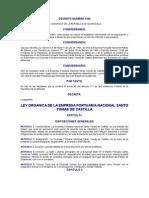 Ley Orgánica de la Empresa Portuaria Nacional Santo Tomás de Castilla