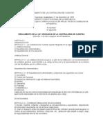 REGLAMENTO DE LA LEY ORGANICA DE LA CONTRALORIA DE CUENTAS