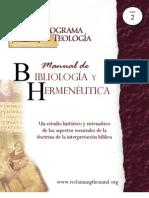 2. Bibliologia y Hermeneutica