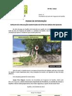 2013-09 - PI - Espelho de circulação danificado - Sítio da Igreja Freguesia de Quelfes