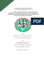 Actuacion del Contador Público en el Proceso Penal de Guatemala