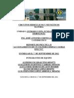 """ACCIONAMIENTO DE UN CILINDRO SIMPLE Y DOBLE EFECTO"""""""