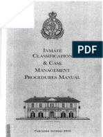 Inmate Classification & Case Management Procedures Manual