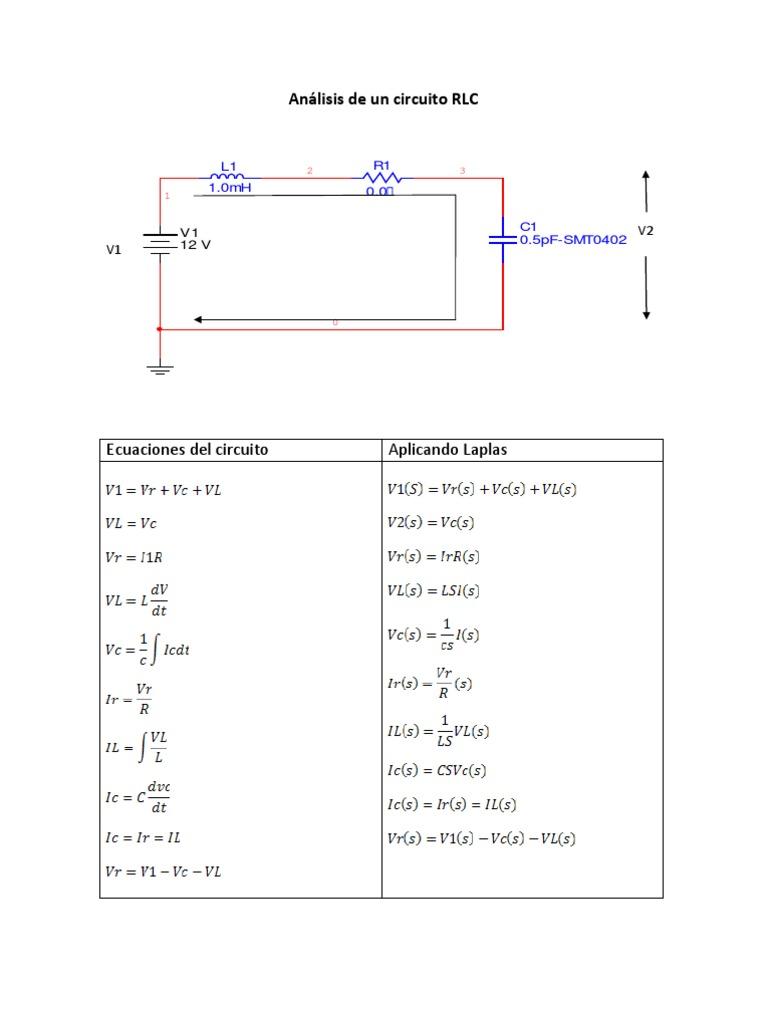 Circuito Rlc : Analisis de circuito rlc